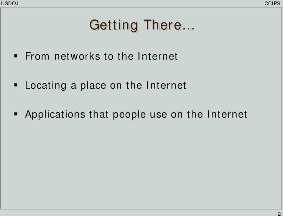 on the Internet Applications