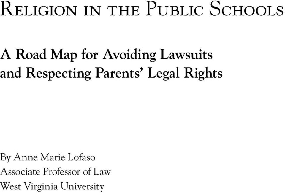Parents Legal Rights By Anne Marie Lofaso