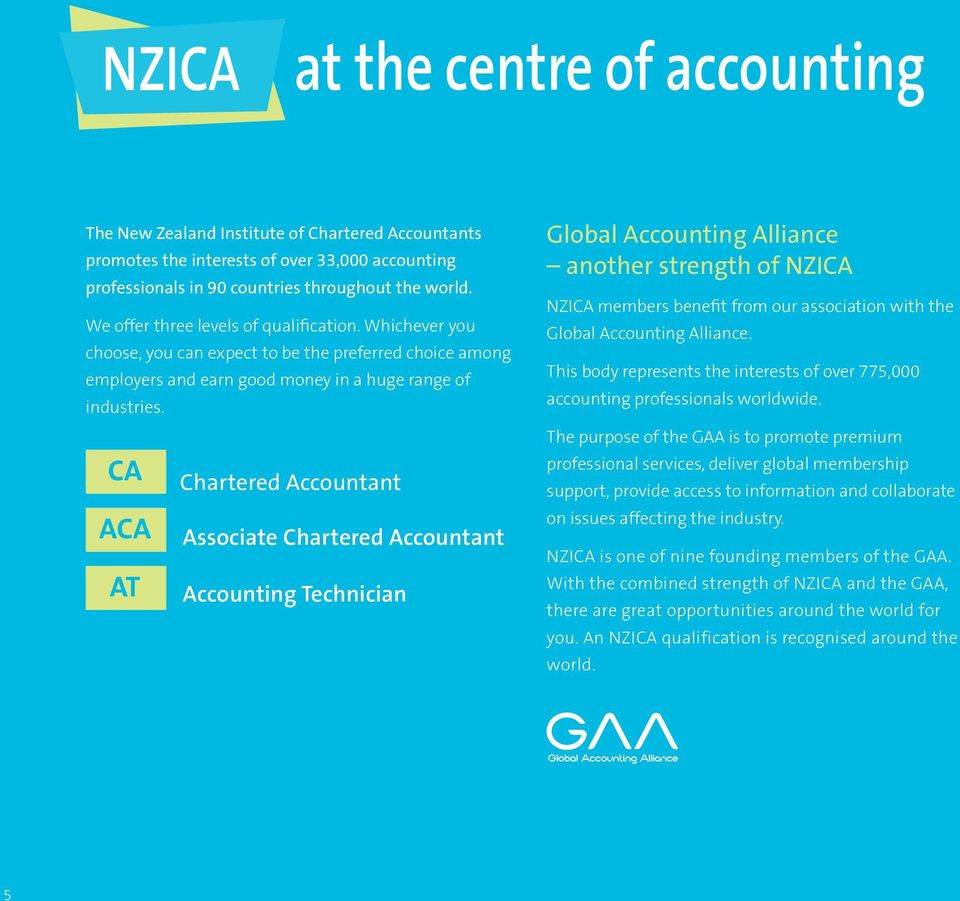 CA ACA AT Chartered Accountant Associate Chartered Accountant Accounting Technician Global Accounting Alliance another strength of NZICA NZICA members benefit from our association with the Global