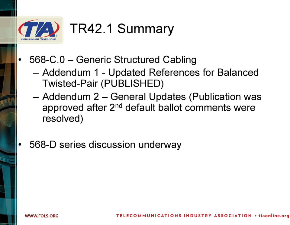 for Balanced Twisted-Pair (PUBLISHED) Addendum 2 General