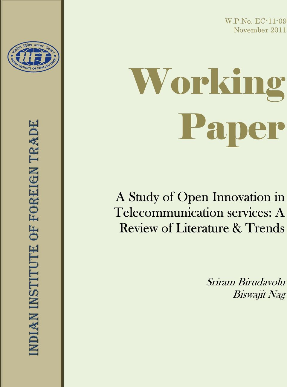 Study of Open Innovation in Telecommunication