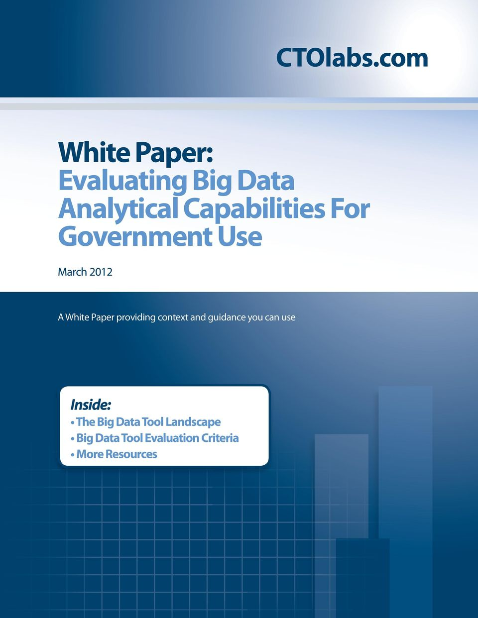 Capabilities For Government Use March 2012 A White Paper