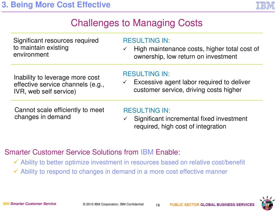 more cost effective service channels (e.g.