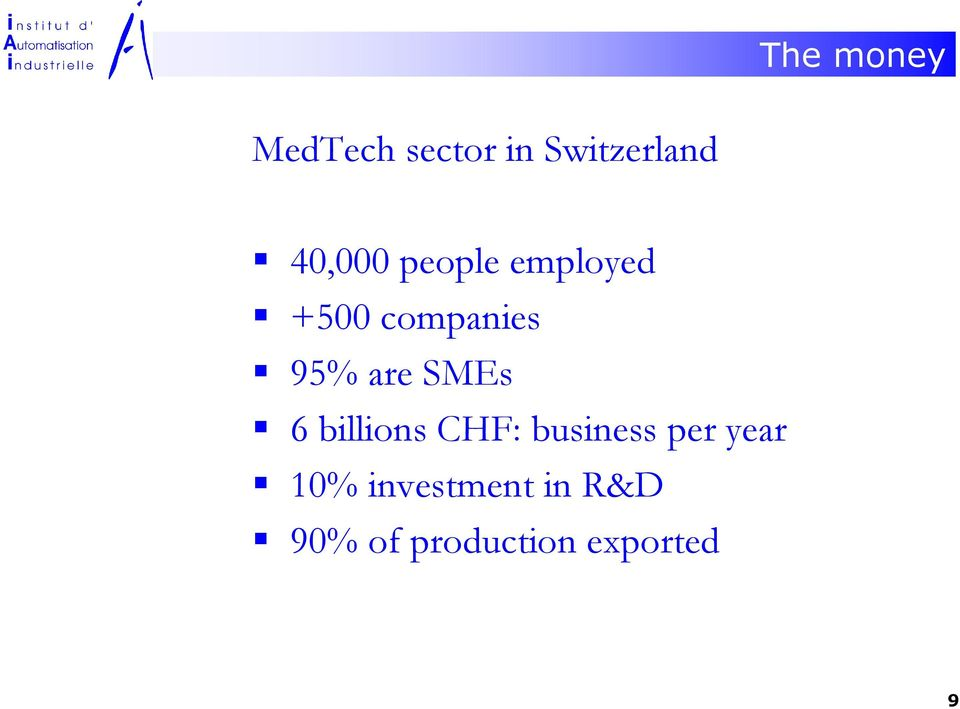 are SMEs 6 billions CHF: business per year