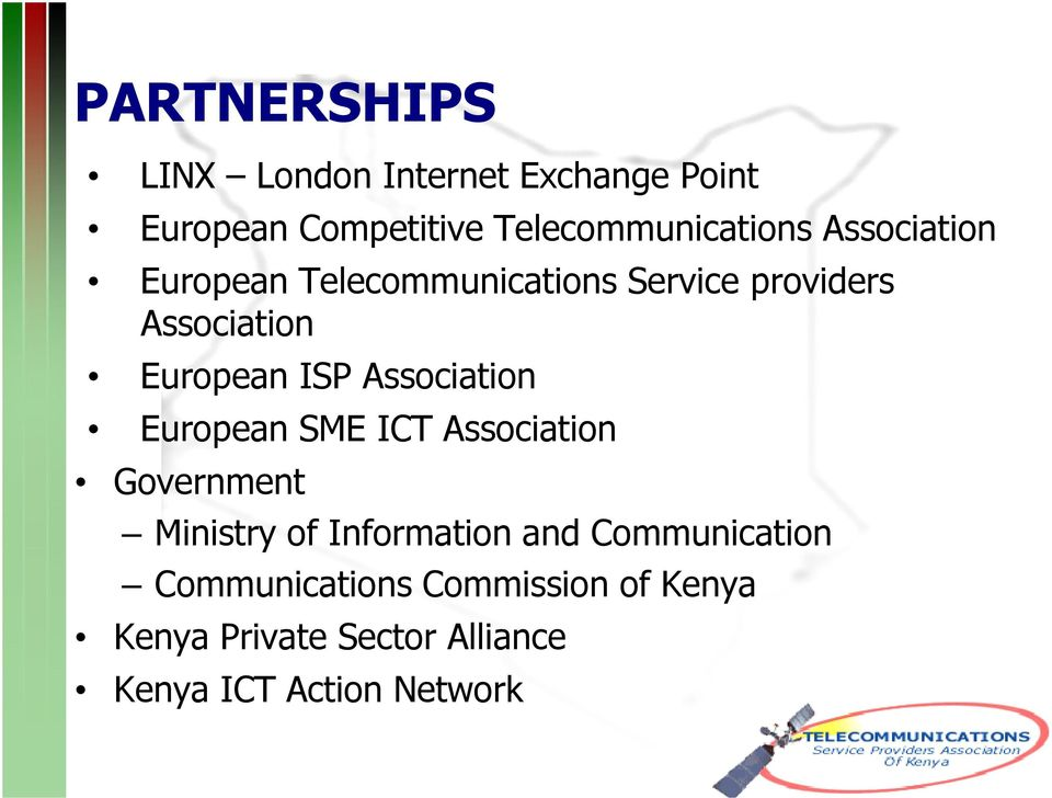 Association European SME ICT Association Government Ministry of Information and
