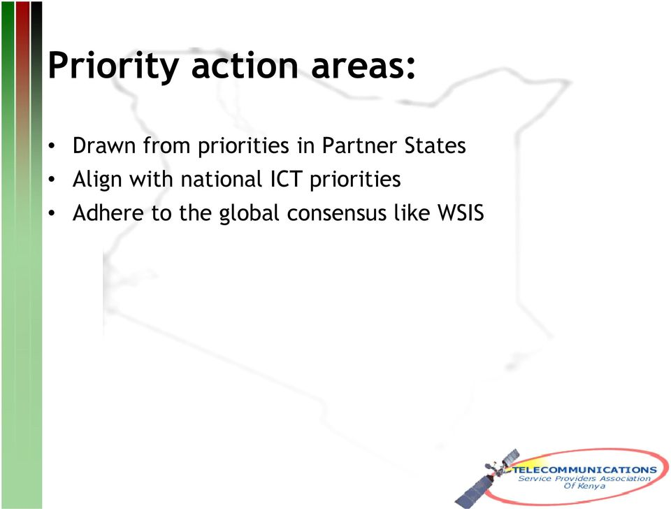 with national ICT priorities