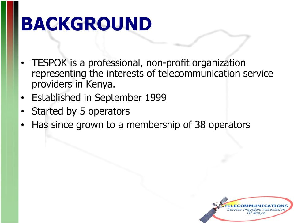 telecommunication service providers in Kenya.