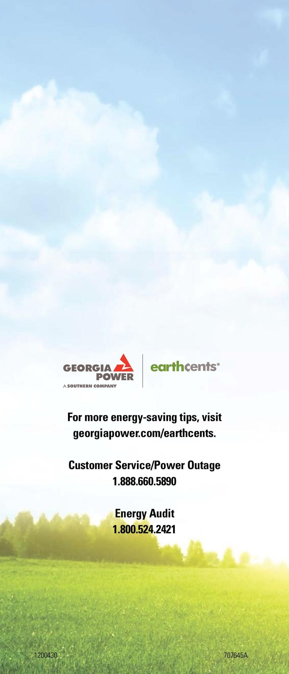 Customer Service/Power Outage 1.888.