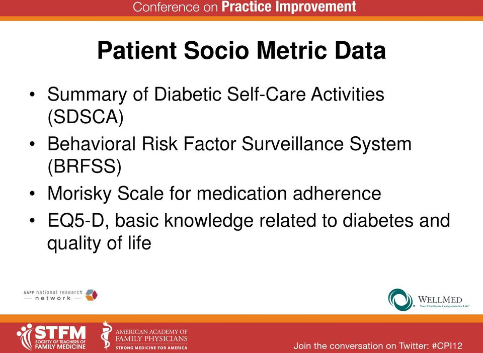System (BRFSS) Morisky Scale for medication adherence