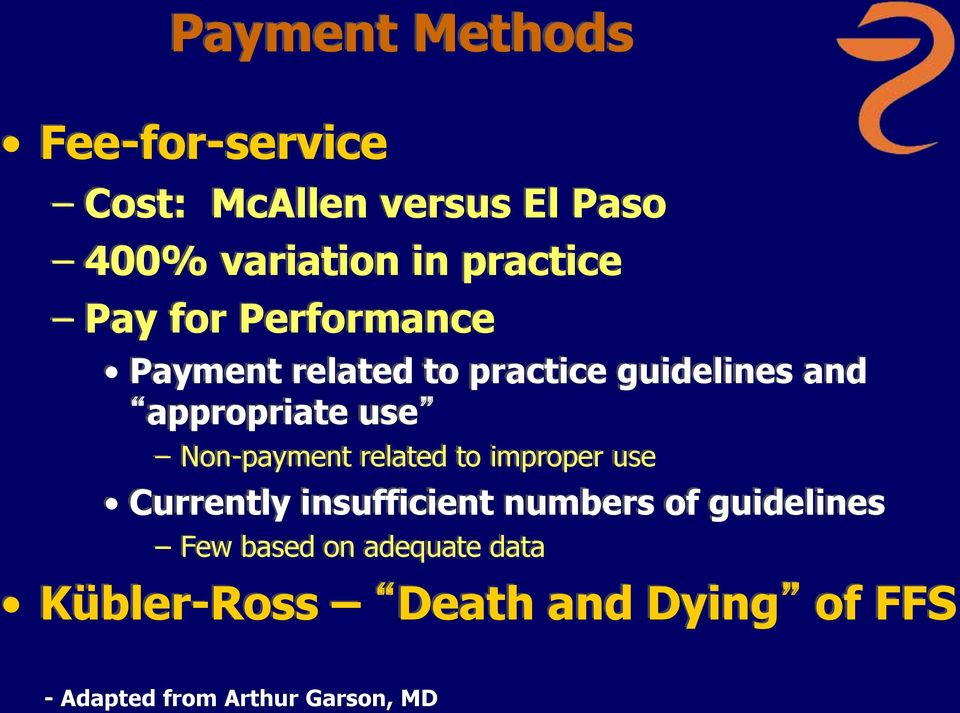 use Non-payment related to improper use Currently insufficient numbers of guidelines
