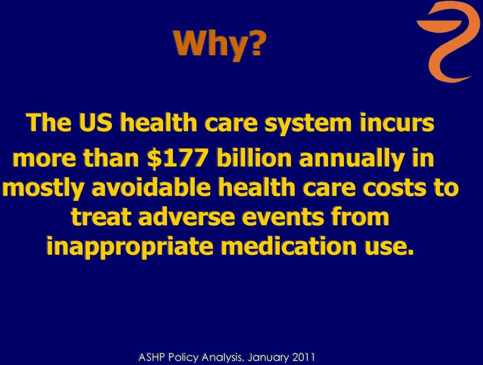 care costs to treat adverse events from