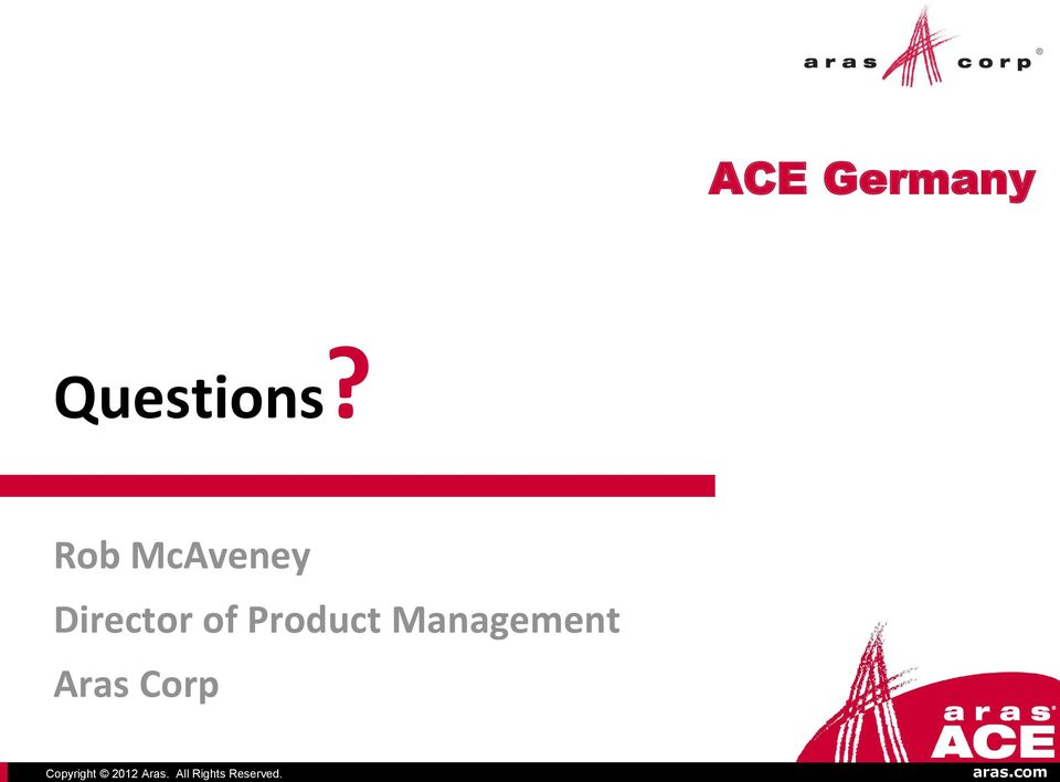 ACE Germany Questions?