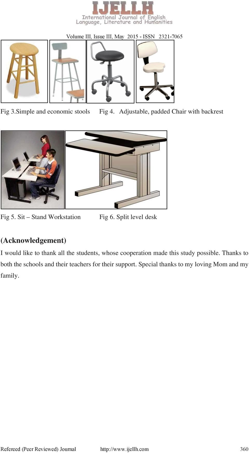 Split level desk (Acknowledgement) I would like to thank all the students, whose