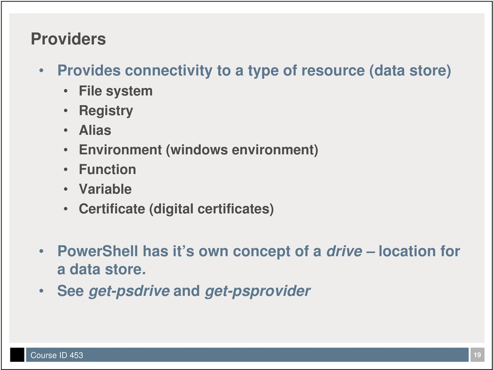 Variable Certificate (digital certificates) PowerShell has it s own