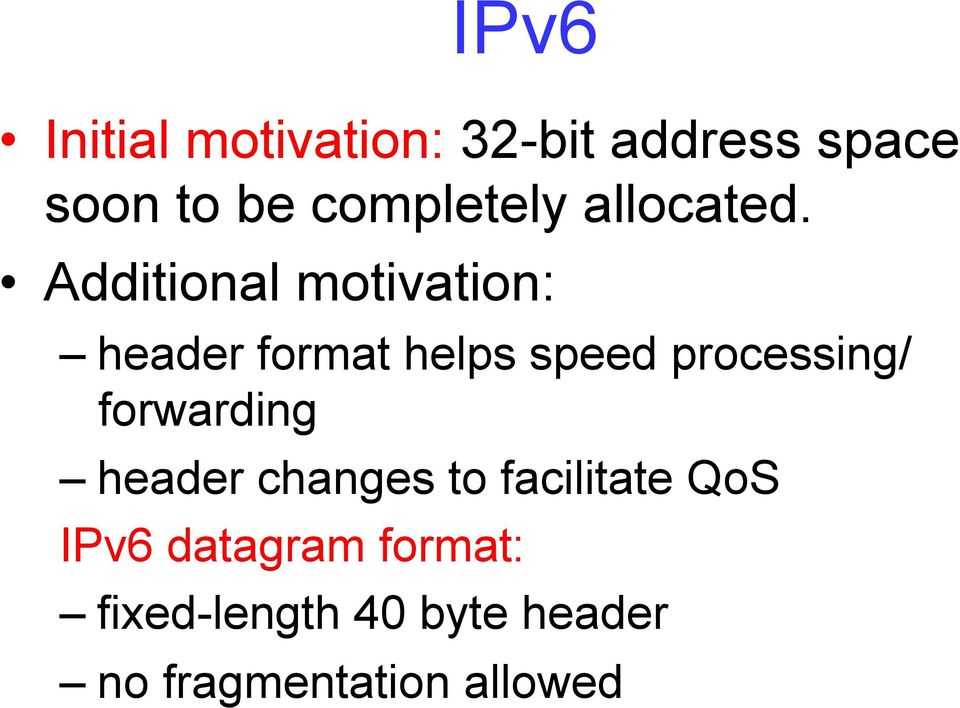 Additional motivation: header format helps speed processing/