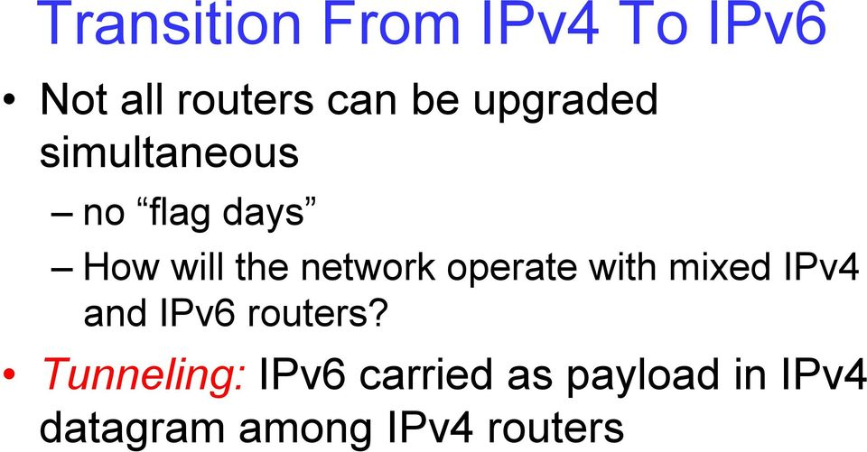 network operate with mixed IPv4 and IPv6 routers?