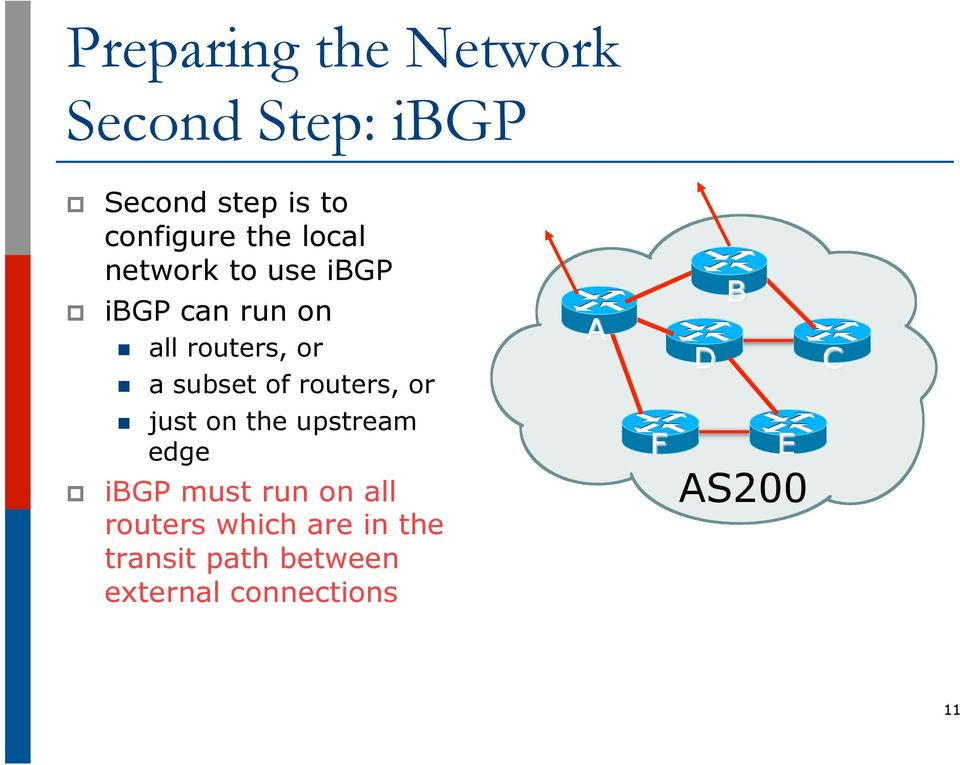 routers, or just on the upstream edge ibgp must run on all routers