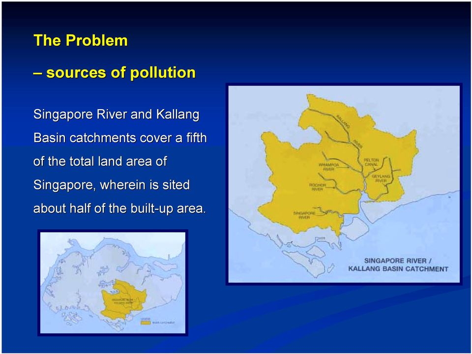 fifth of the total land area of Singapore,