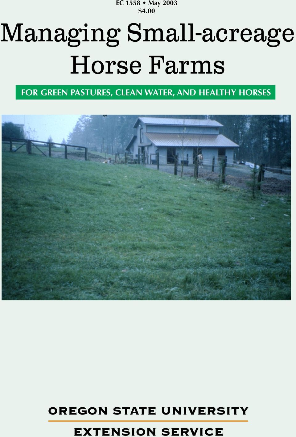 Horse Farms FOR GREEN