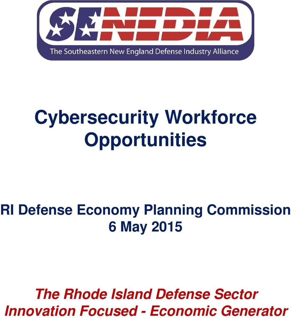 6 May 2015 The Rhode Island Defense