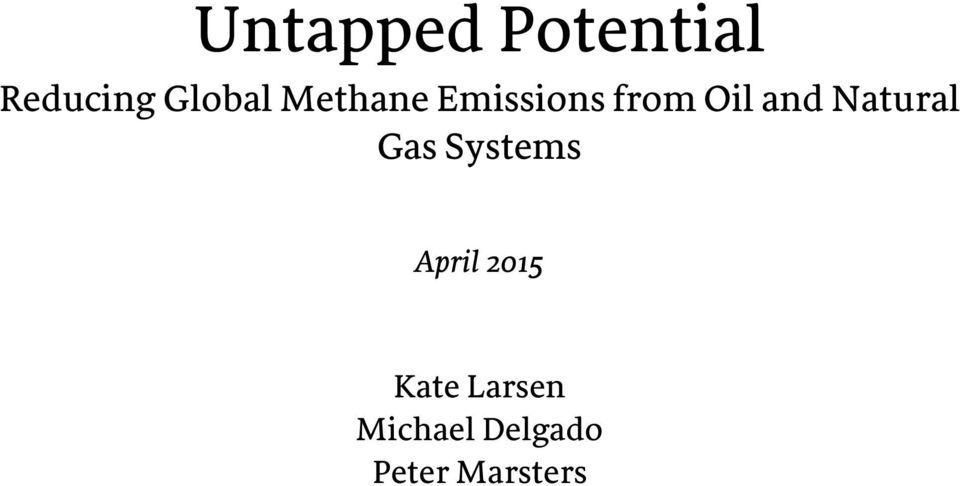 Natural Gas Systems April 2015