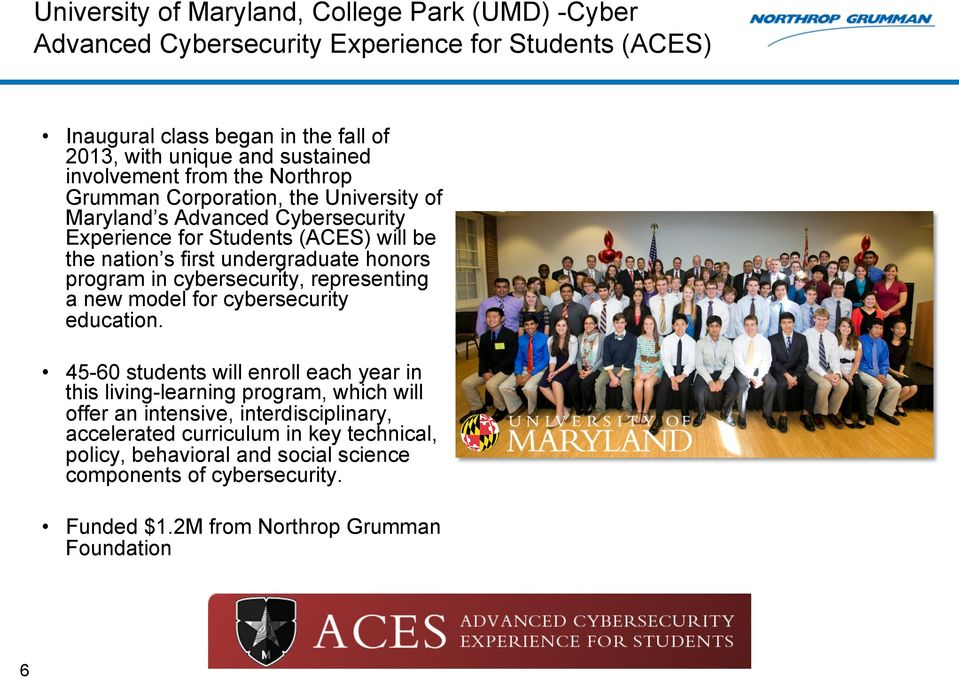 honors program in cybersecurity, representing a new model for cybersecurity education.