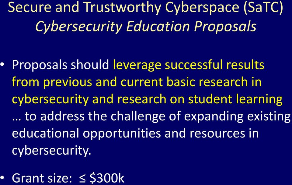research in cybersecurity and research on student learning to address the challenge