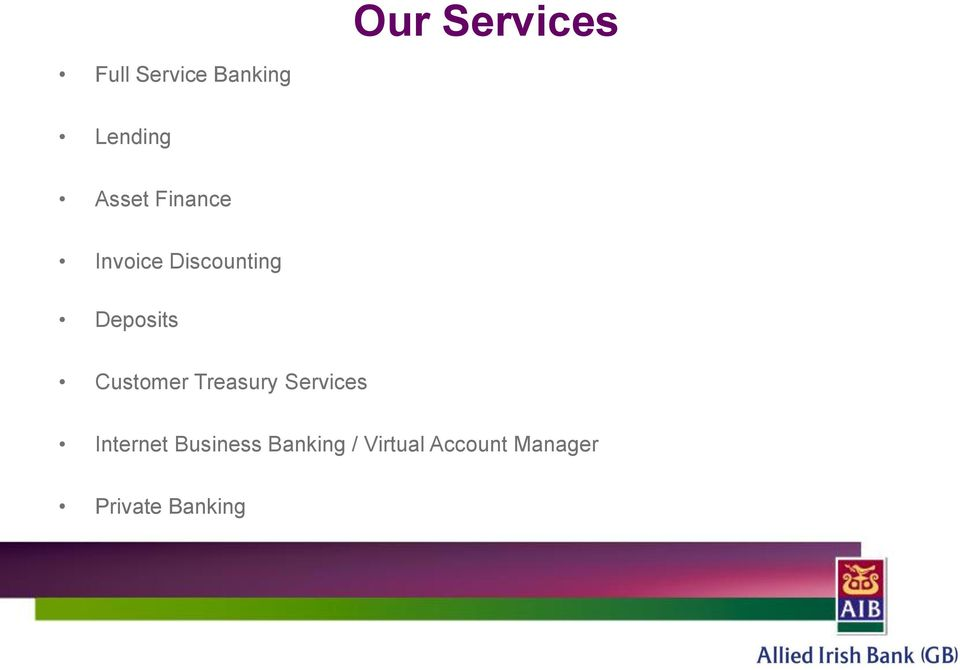 Customer Treasury Services Internet Business