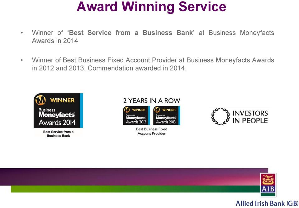 Winner of Best Business Fixed Account Provider at