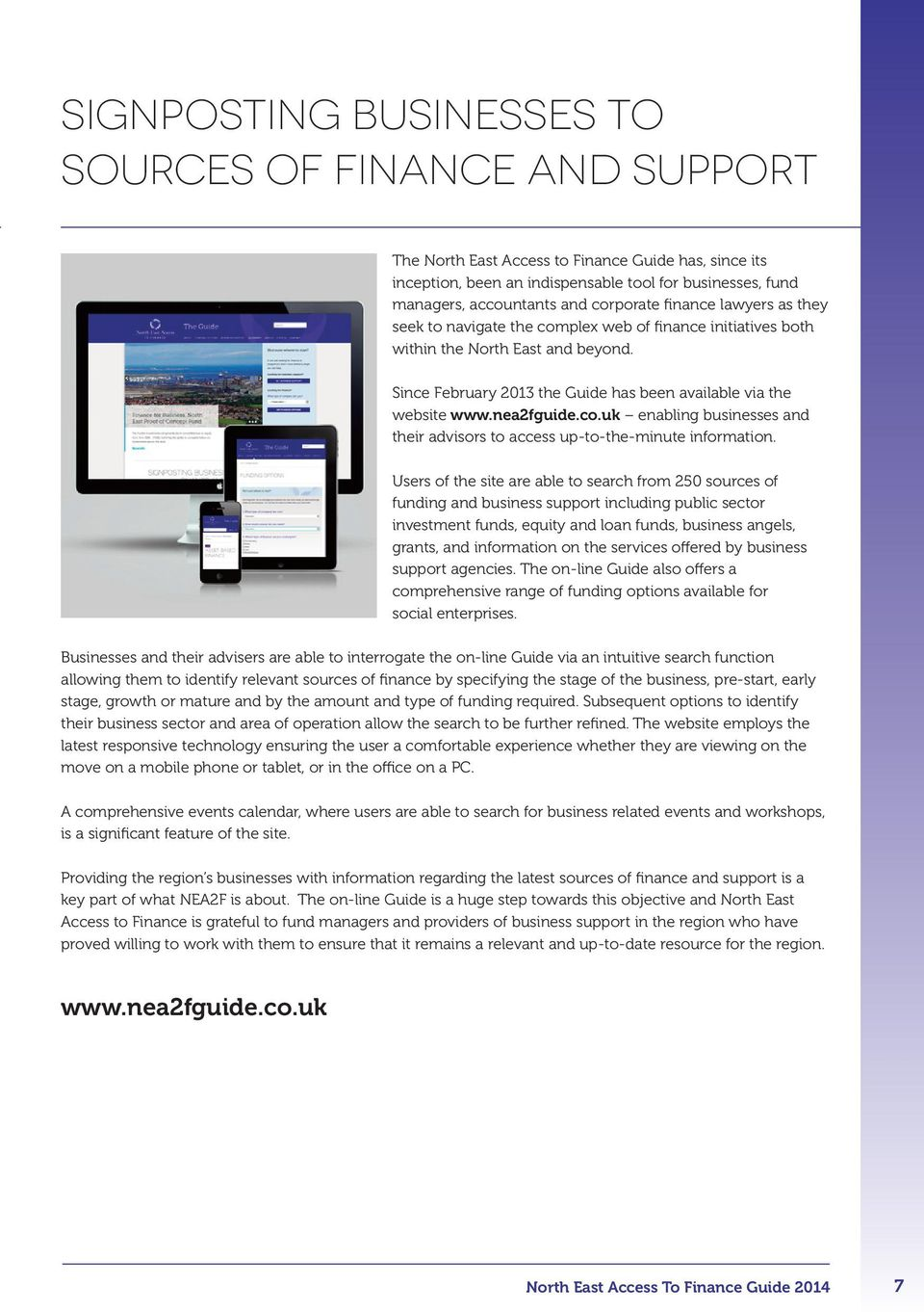 nea2fguide.co.uk enabling businesses and their advisors to access up-to-the-minute information.