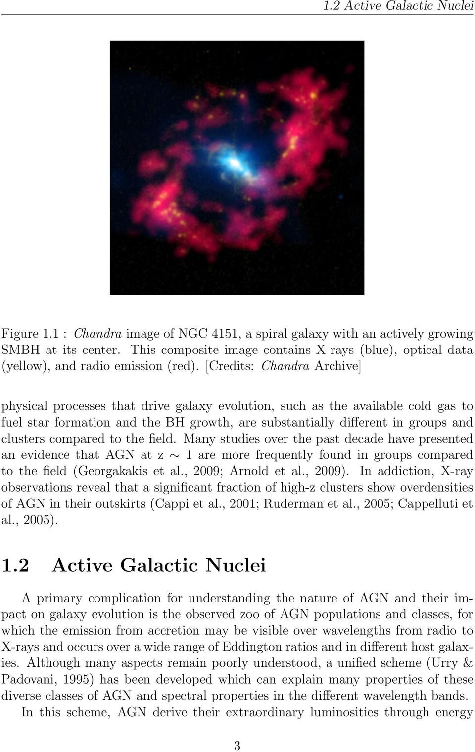 [Credits: Chandra Archive] physical processes that drive galaxy evolution, such as the available cold gas to fuel star formation and the BH growth, are substantially different in groups and clusters