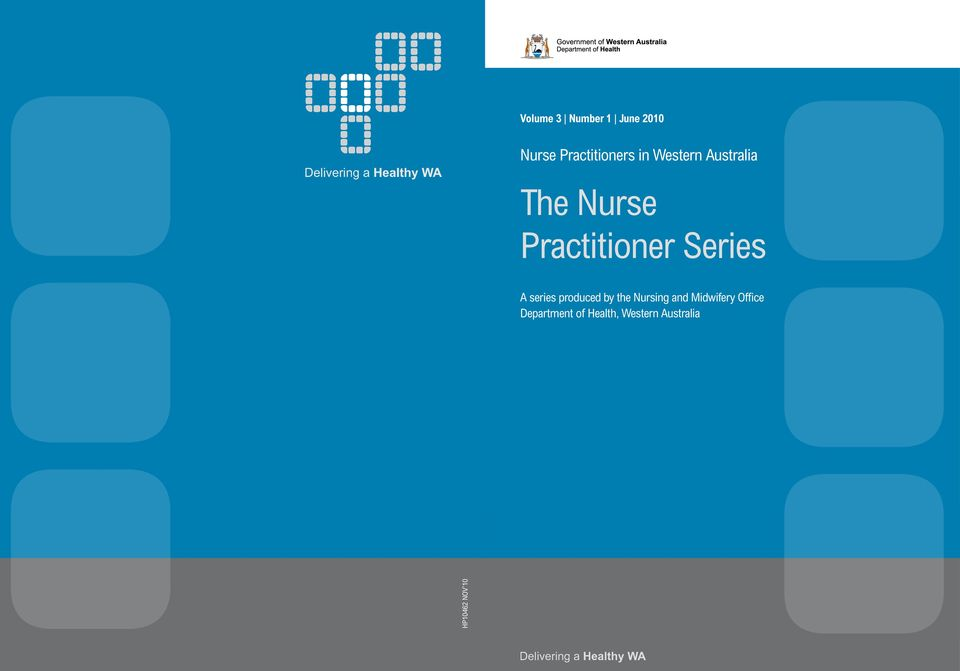 series produced by the Nursing and Midwifery Office