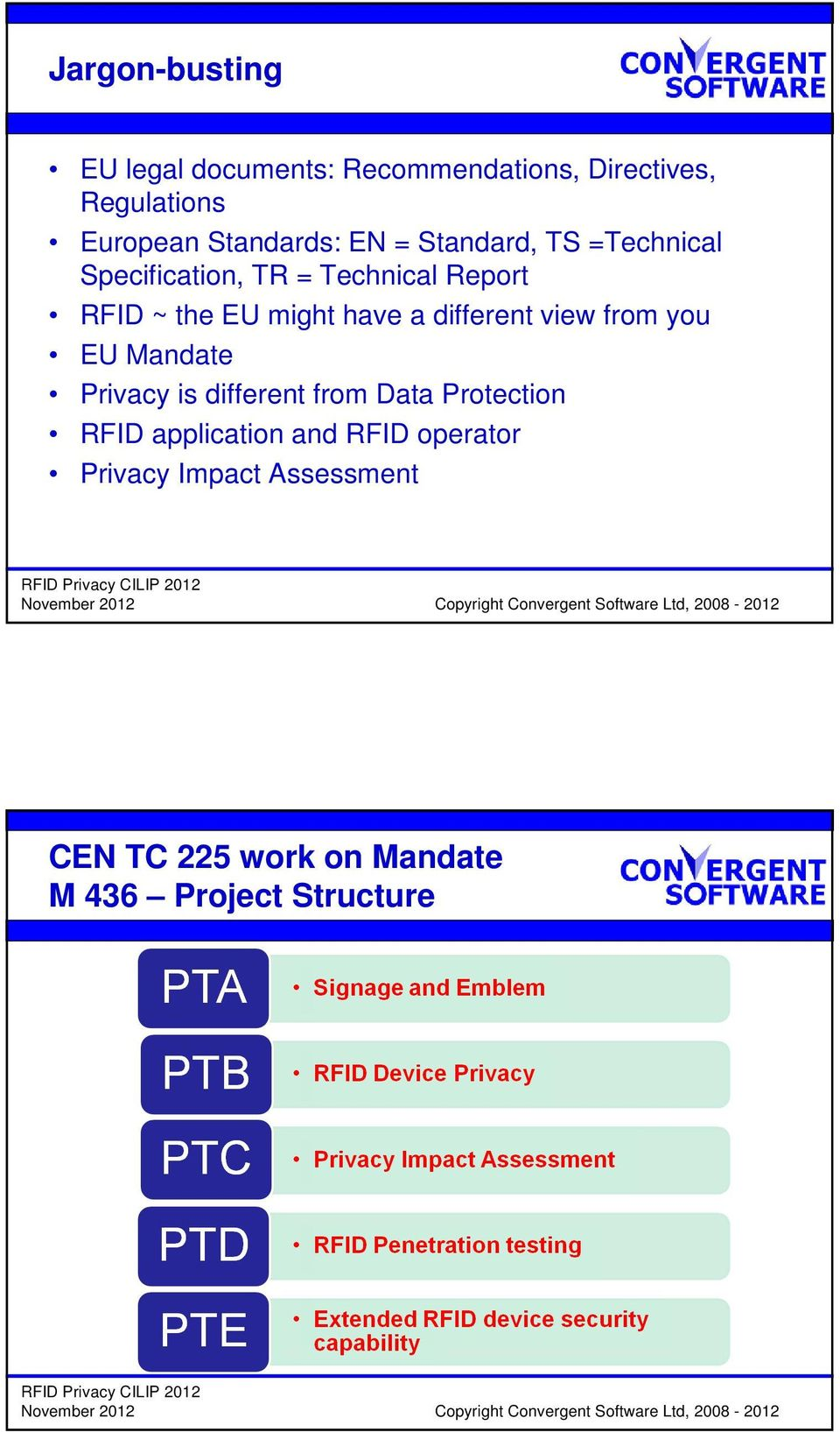 might have a different view from you EU Mandate Privacy is different from Data Protection RFID