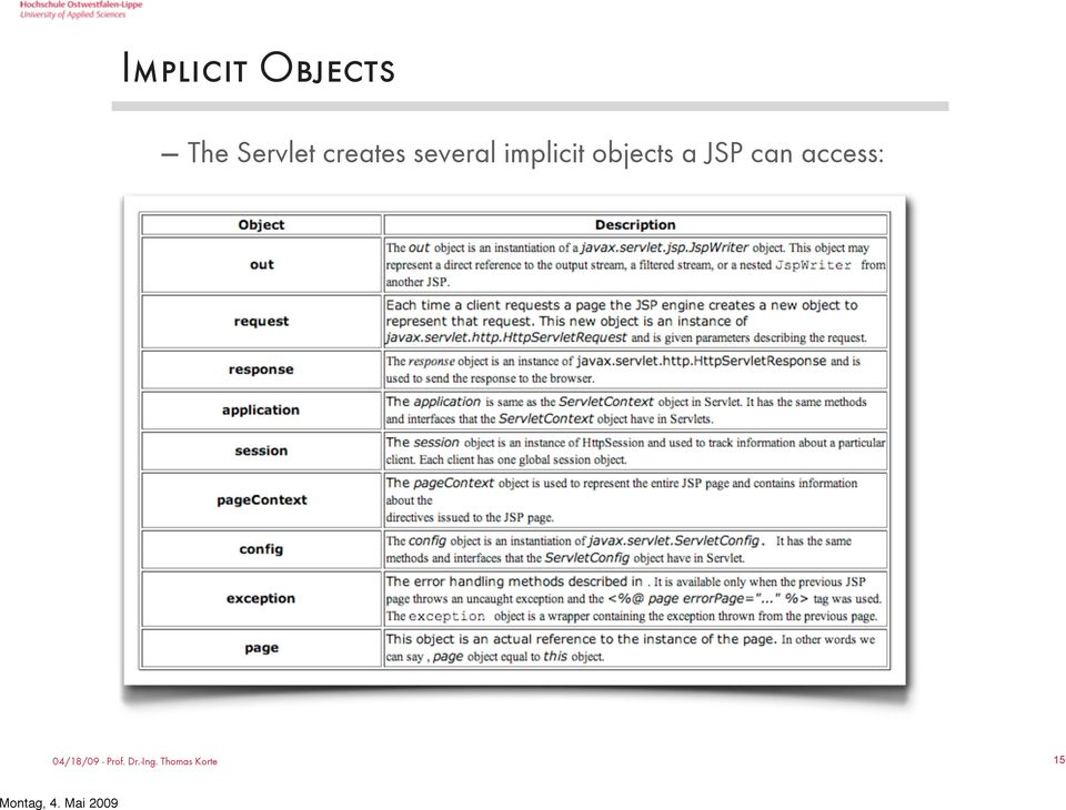several implicit