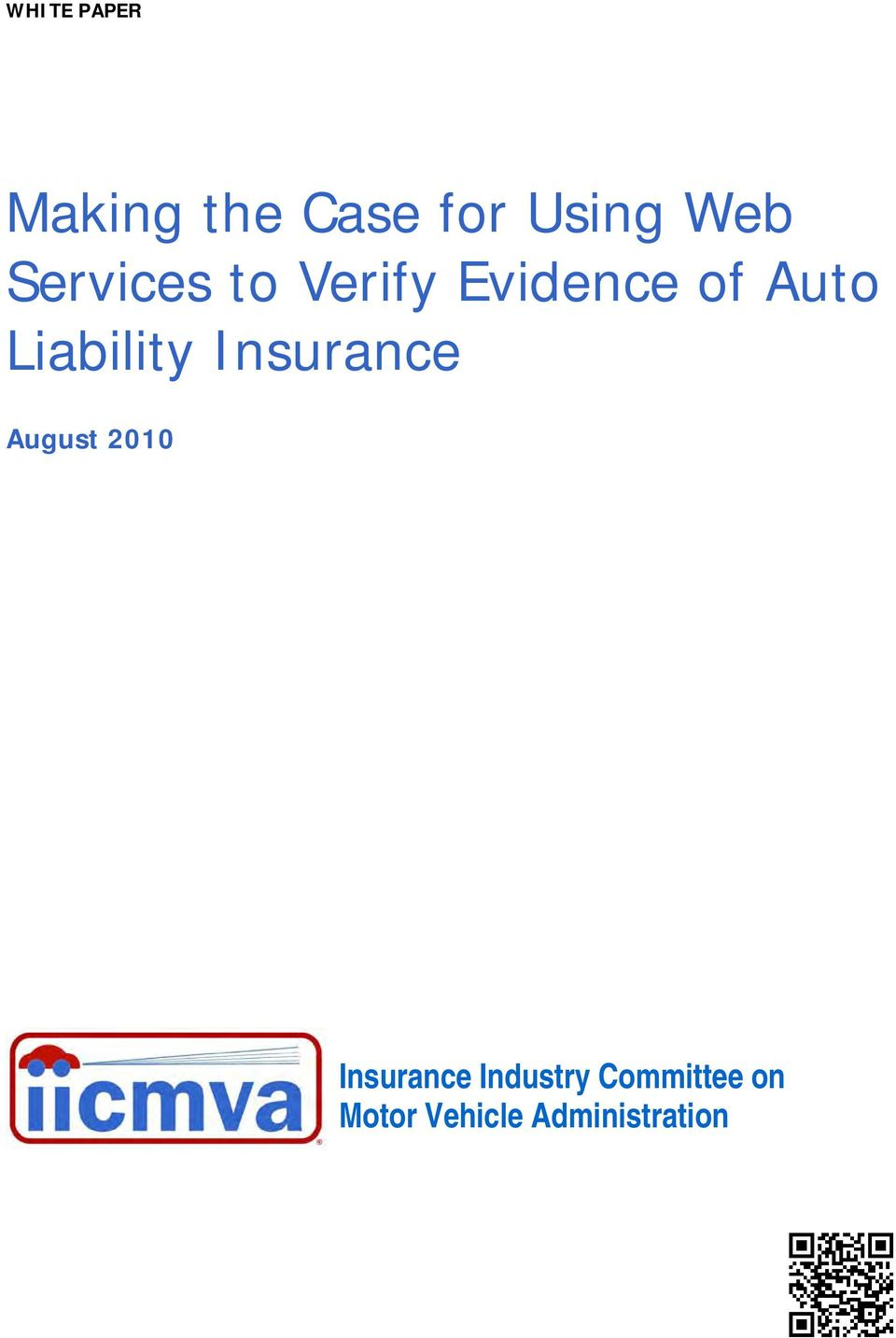 Liability Insurance August 2010 Insurance