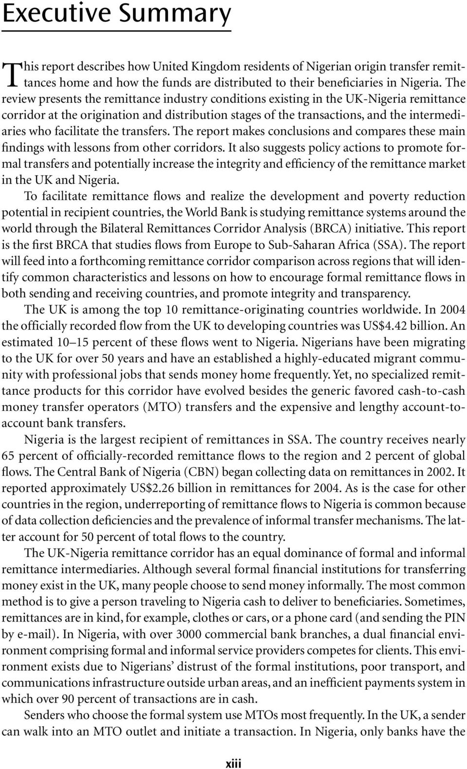 The UK-Nigeria Remittance Corridor Challenges of Embracing