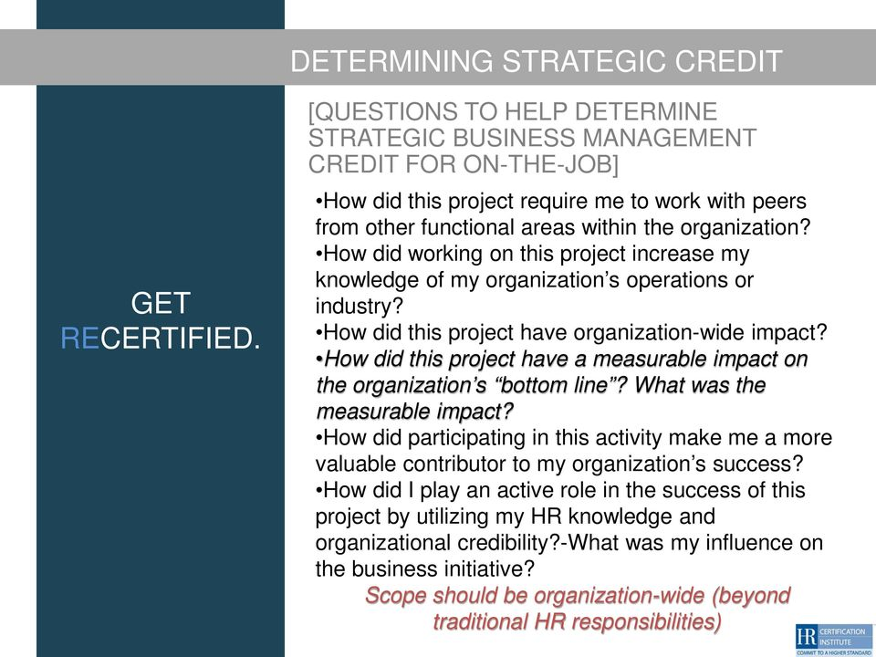 How did this project have a measurable impact on the organization s bottom line? What was the measurable impact?