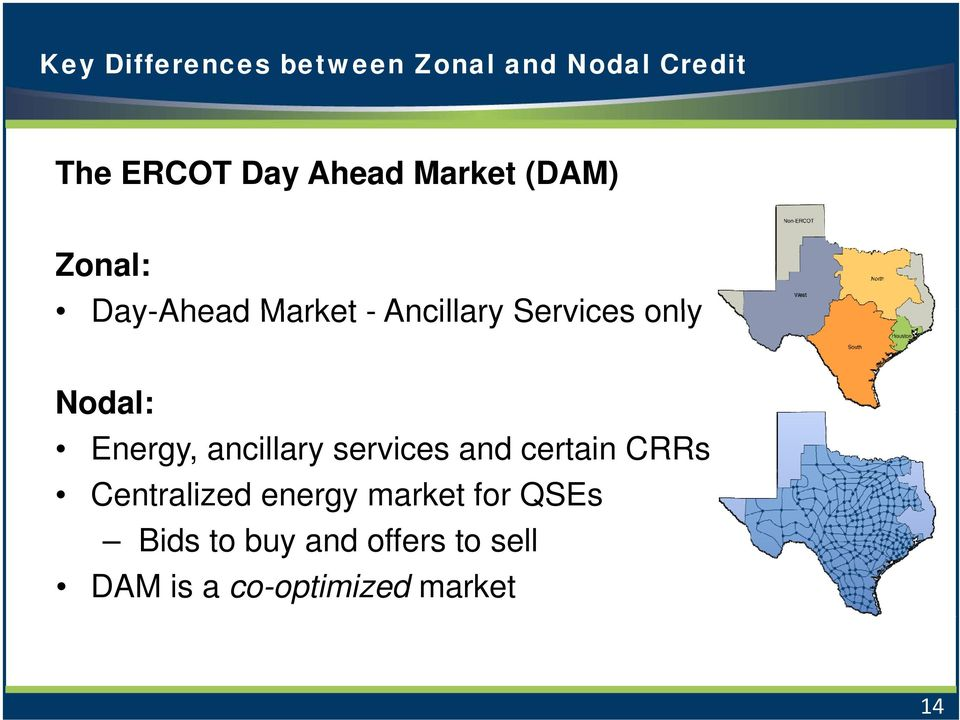 Energy, ancillary services and certain CRRs Centralized energy market