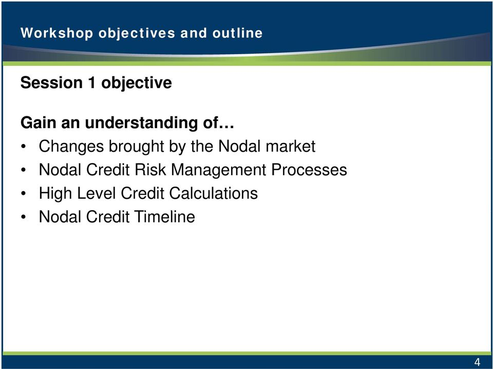 Nodal market Nodal Credit Risk Management Processes