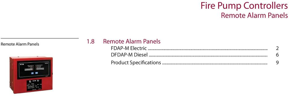8 Remote Alarm Panels FDAP-M Electric.