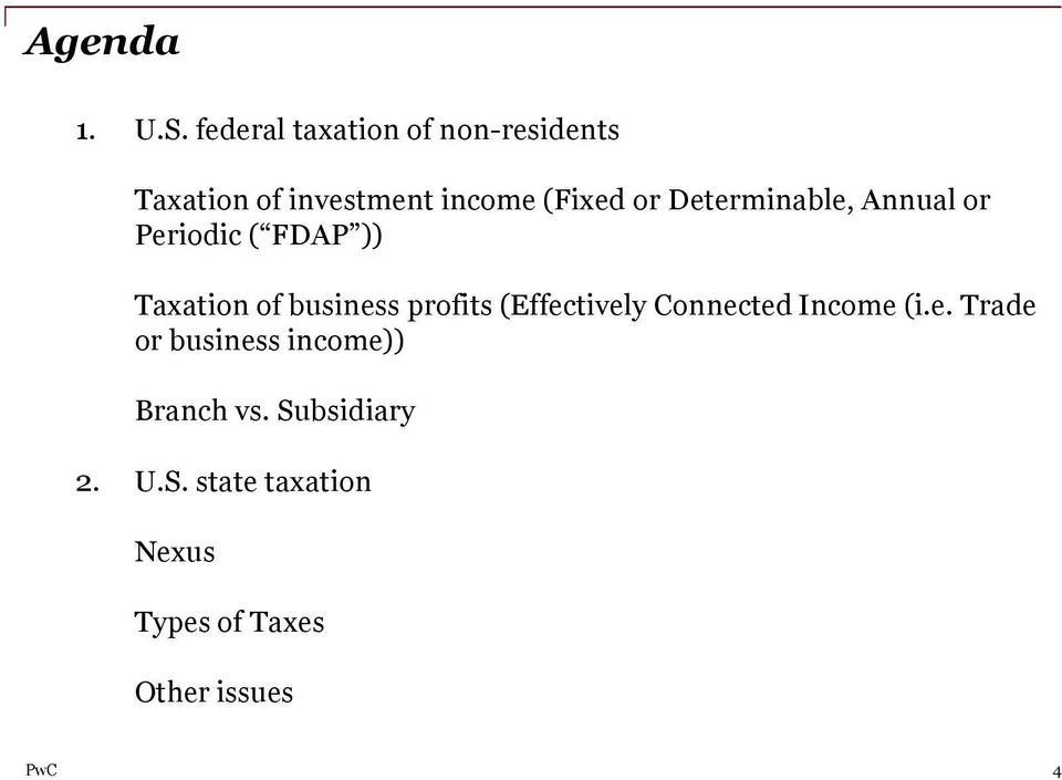 Determinable, Annual or Periodic ( FDAP )) Taxation of business profits