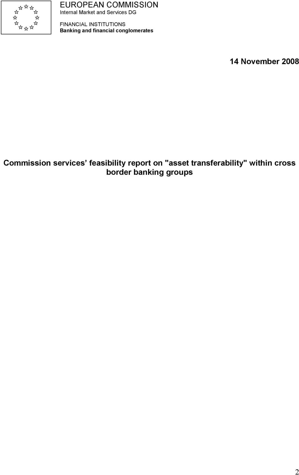 conglomerates 14 November 2008 Commission services