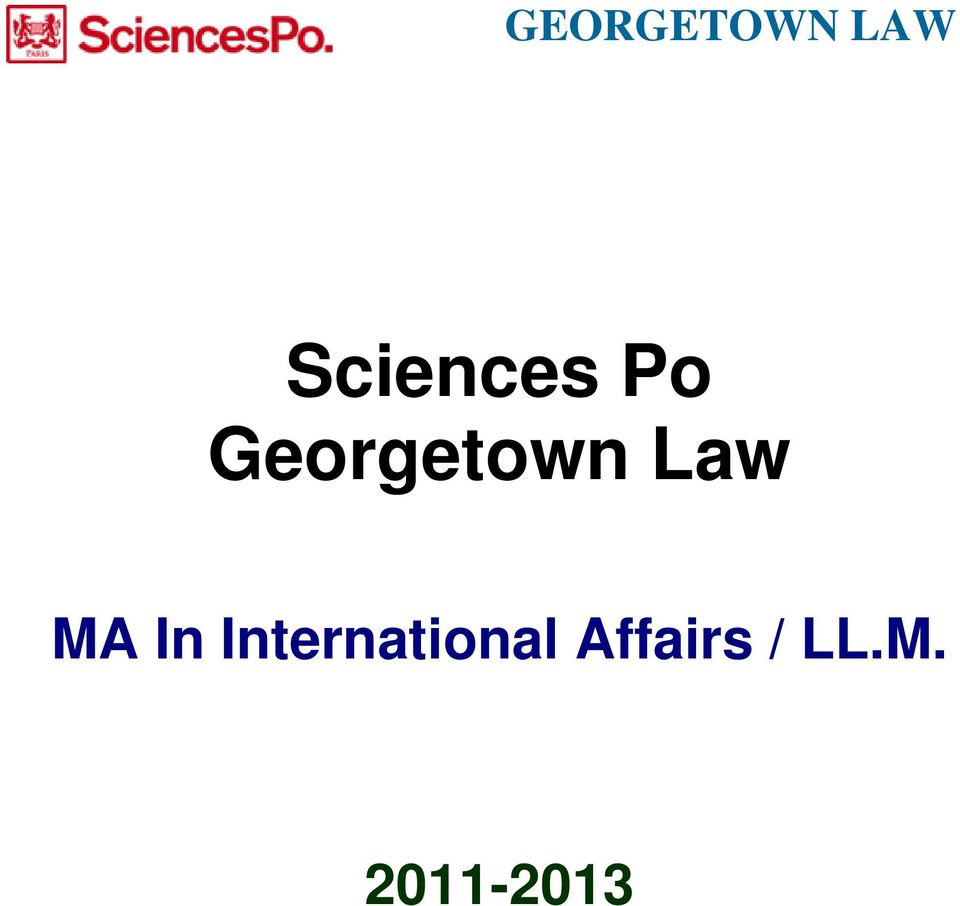 Georgetown Law MA In