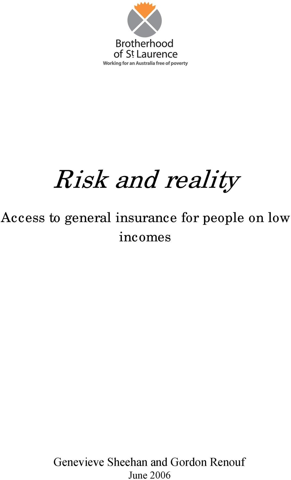 on low incomes Genevieve