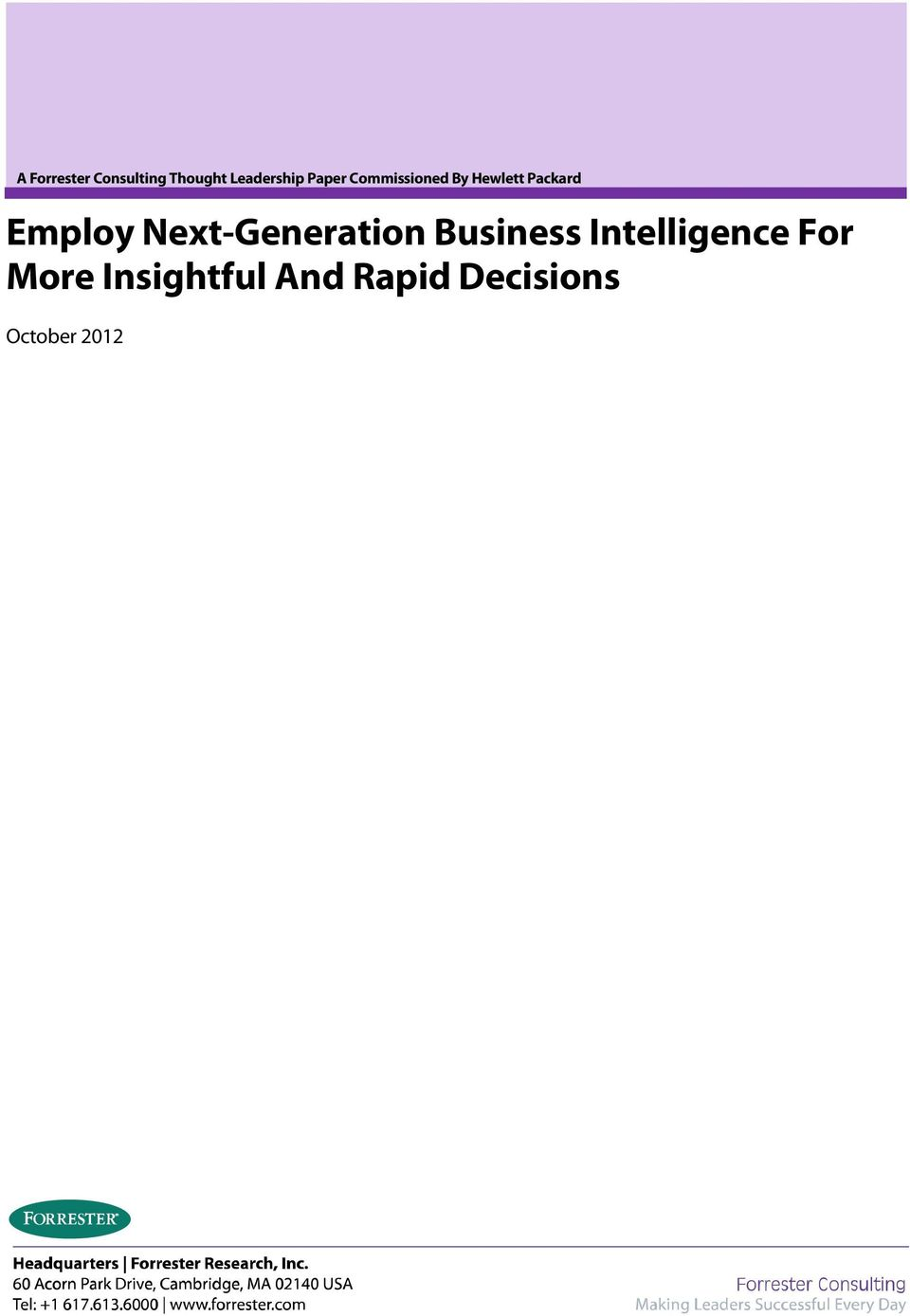 Next-Generation Business Intelligence For
