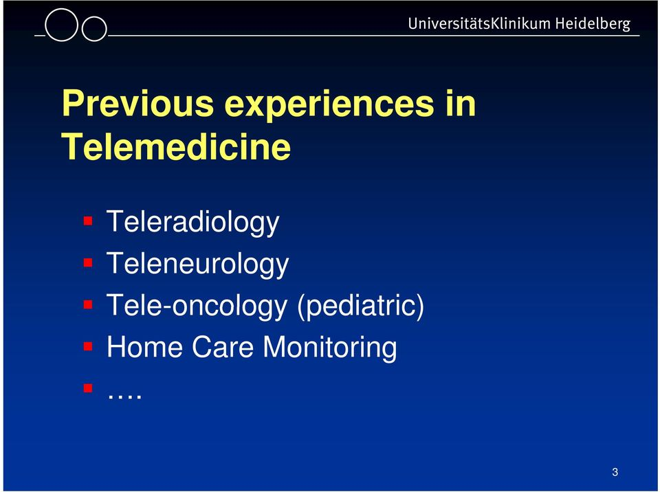 Teleneurology Tele-oncology
