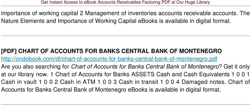com/dl/chart-of-accounts-for-banks-central-bank-of-montenegro.pdf Are you also searching for Chart of Accounts for Banks Central Bank of Montenegro?