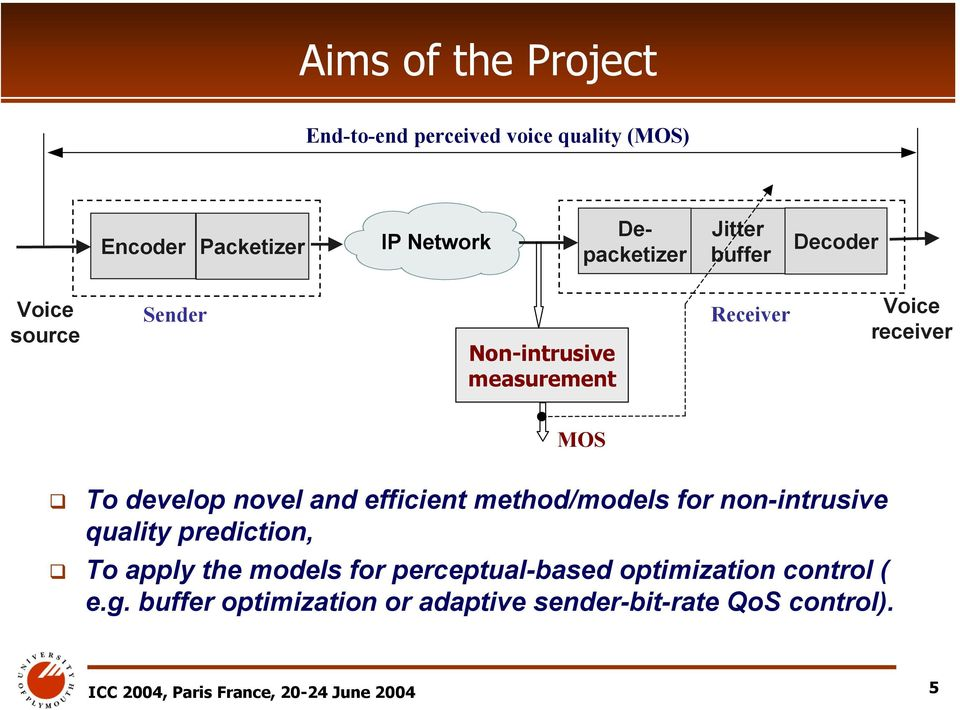 efficient method/models for non-intrusive quality prediction, To apply the models for perceptual-based