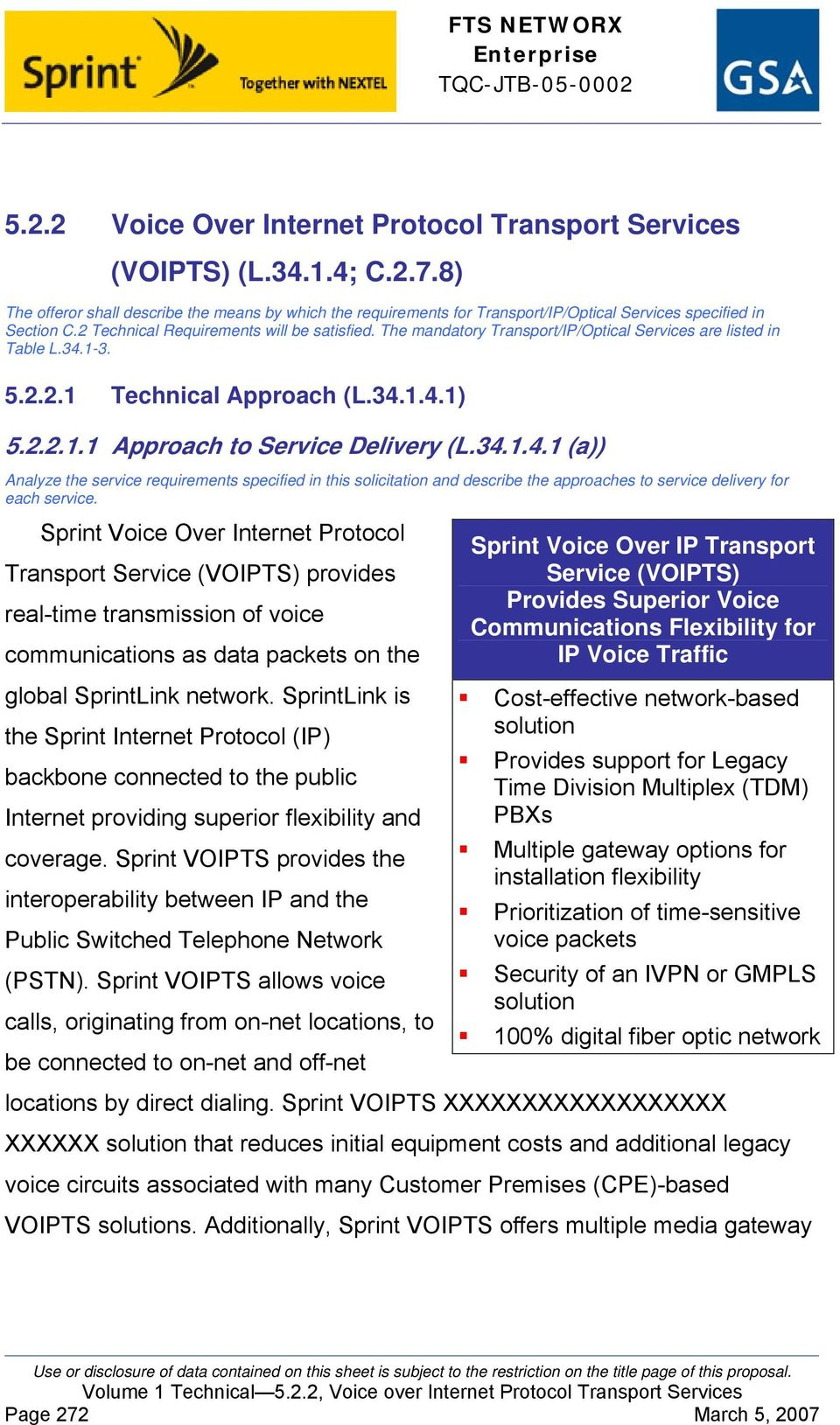 The mandatory Transport/IP/Optical Services are listed in Table L.34.