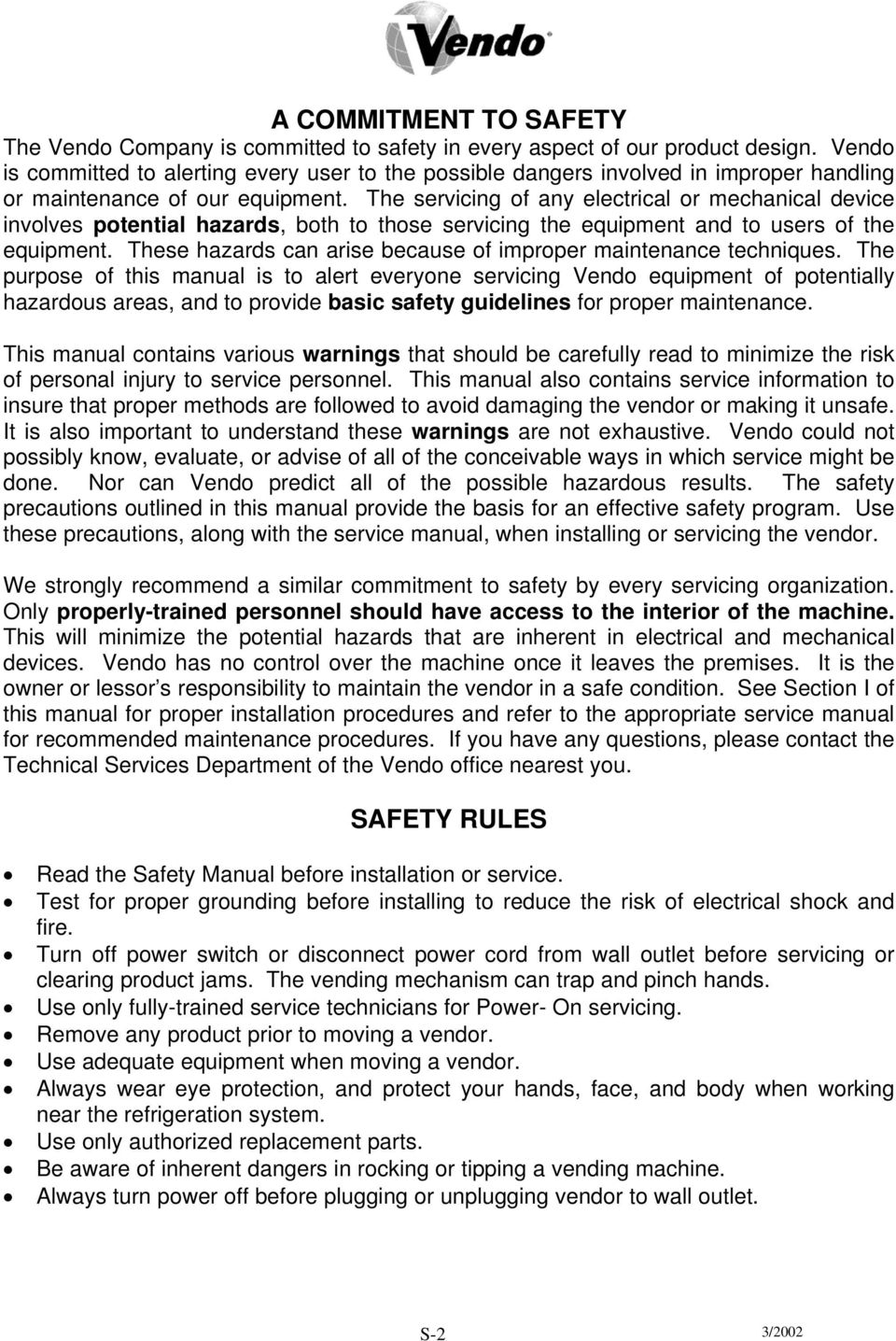 Vendo v max manual for coca cola identified equipment the vendo the servicing of any electrical or mechanical device involves potential hazards both to those servicing sciox Gallery